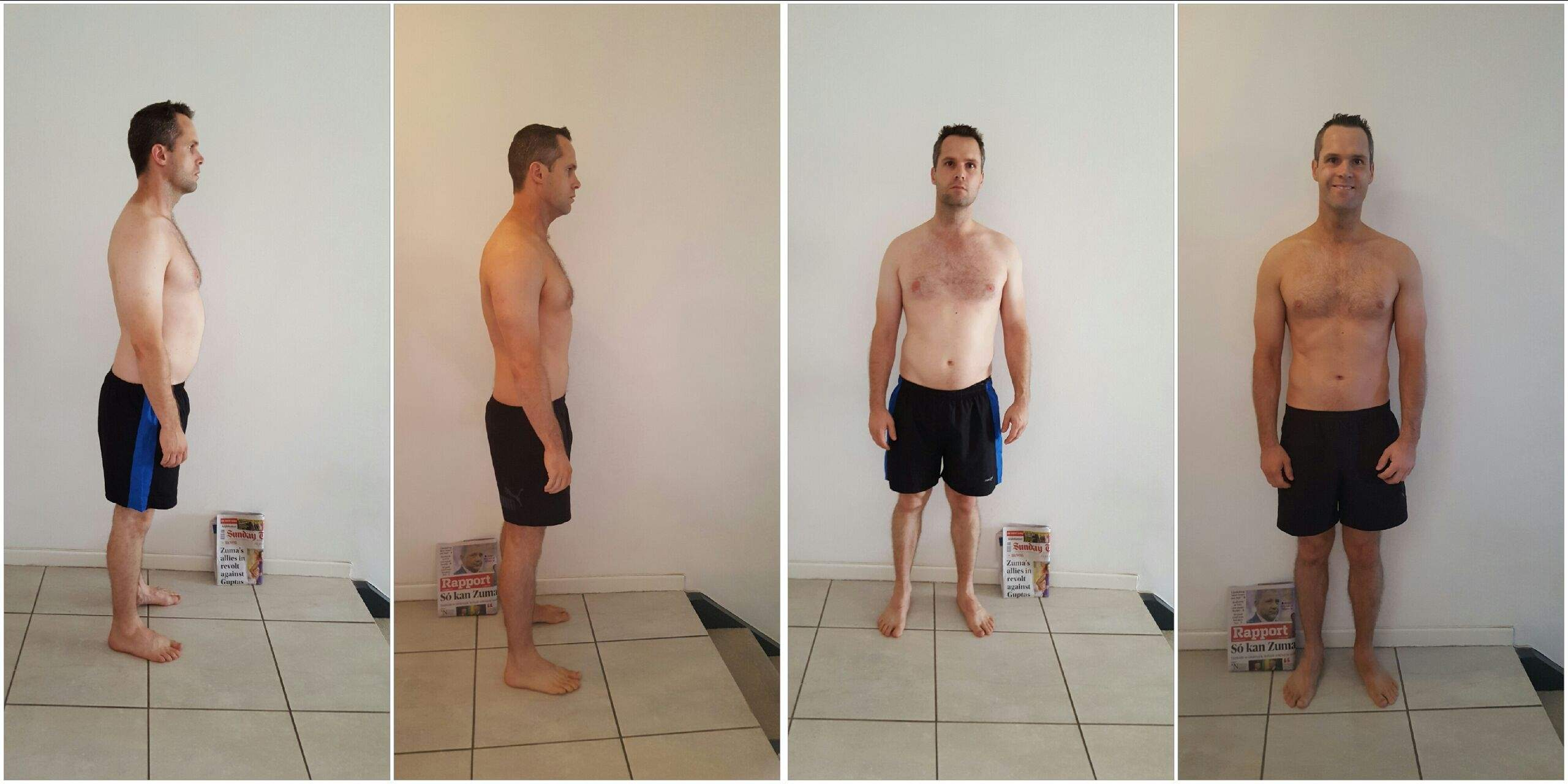 Johan Fourie before and after